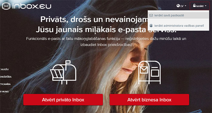 Inbox.eu new first page!